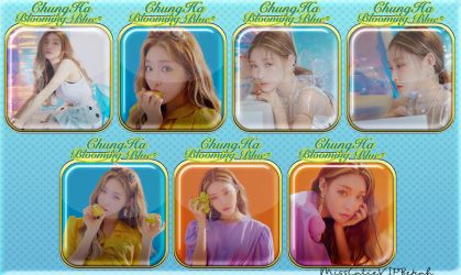 ChungHa Blooming Blue Icons by MissCatieVIPBekah