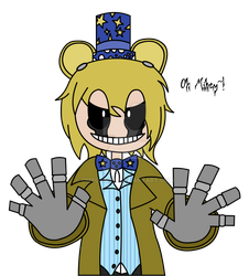 Humanoid Golden Freddy by OmegaMKII