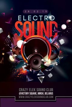 Abstract Electro Sound Night Party In Club by n2n44