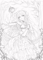 Autumn Empress-Outline/Lineart by YuukiMONSTER