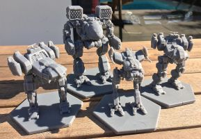 MWGoW 3d Printed Mechs by MasakariPrime