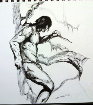 Day 30: A Study after Frazetta by zerioni