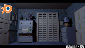FNaF 4 House v2 Blender Release by Spinofan10