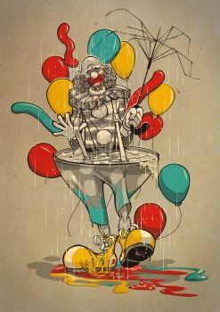 Clown Vs Rain by dracoimagem-com