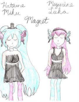 Miku and Luka (from Magnet) by Miku by Lily-the-Vocaloid
