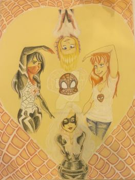 Spidey's Angels by DeathByMarshmallows