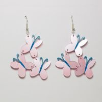 Fluttershy Cutie Mark Earrings by Zamataj