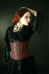 Red Corset Stock III by DanielleFiore