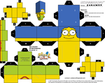 Marge Simpsons Part 1 Cubeecraft by JagaMen