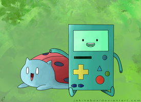 Catbug and BMO by Jakinabox