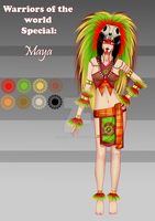 (closed) OC Adopt - Maya Warrior by CherrysDesigns