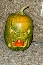 2011 Scary Orc Face Jack-o-lantern by TNHawke
