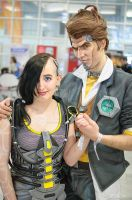 Handsome Jack and Angel cosplay - Borderlands 2 by MaryMustang01