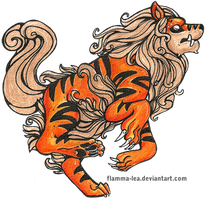 Arcanine: Guardian Forme by Flamma-Lea