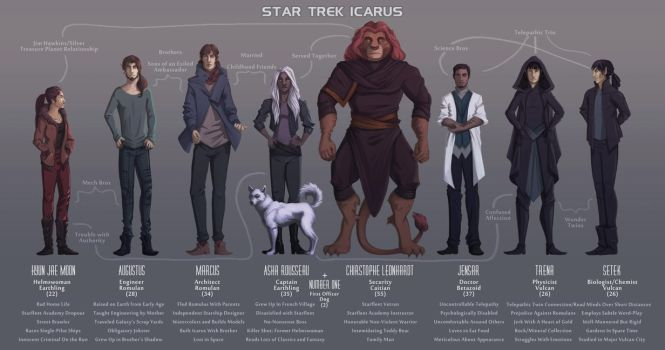 Star Trek: Icarus - Crew Lineup by 89ravenclaw