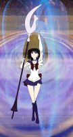 Sailor Saturn on Saturn by Blackmoonrose13