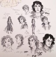 Dream of the Endless Character Sketches by artofMilica