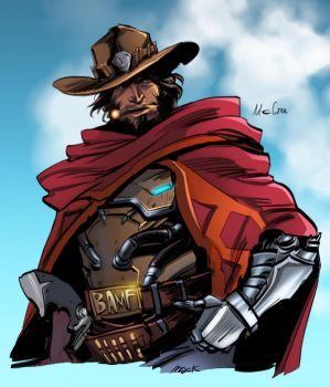 OVERWATCH.Mc cree by astrogus