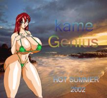 Busty at the beach by Kame-Genius
