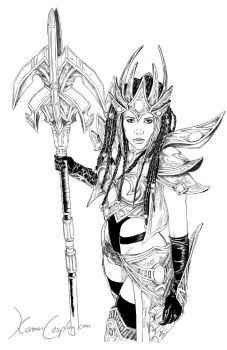Protoss Wizard - drawing by Dinoforce