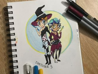 lollll in tried doing Inktober  by thisisntgod9