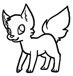 Pixel Cat Lineart by PrincessentiaFarms
