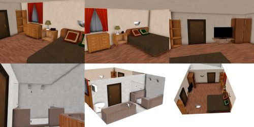 [MMD] Hotel room (download) by Wampa842
