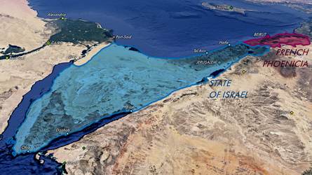 Map of the State of Israel and French Phoenicia by mihaly-vadorgrafett