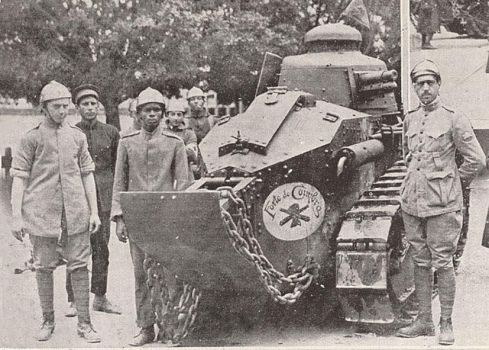 Loyalist soldiers with a tank, 1924 civil war. by Gukpard
