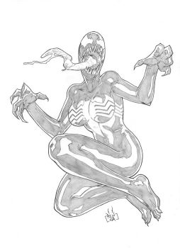 COMMISSION Gwen Symbiote complete transform PENCIL by MarkReindeer