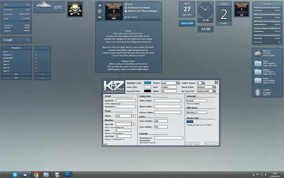 WIP Kaz Suite For Rainmeter (Last Preview) by kaz28100