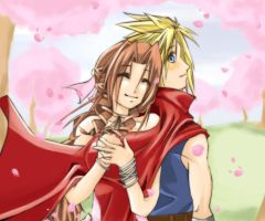 It's Spring. Cloud x Aerith by AnAngelkiss