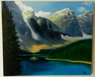 Mountains - Oil on canvas by saystark
