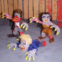 Zombie Minis- Pack of 3 by the-gil-monster