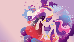 Cadance Silhouette Wall by SambaNeko