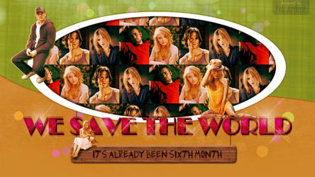 WE SAVE THE WORLD, rejected banner by FeuArdent