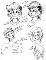 Charity Dev Sketches-- Face Shapes by the-gneech