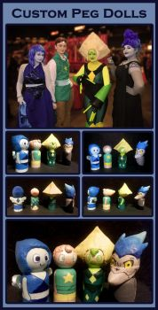 Custom Peg Dolls (And Cosplay)! by MokkaQuill