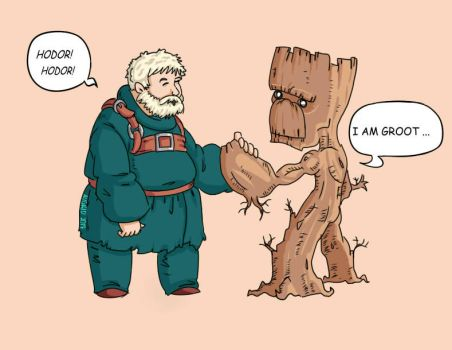 FANART: Hodor and Groot by Grid-Works