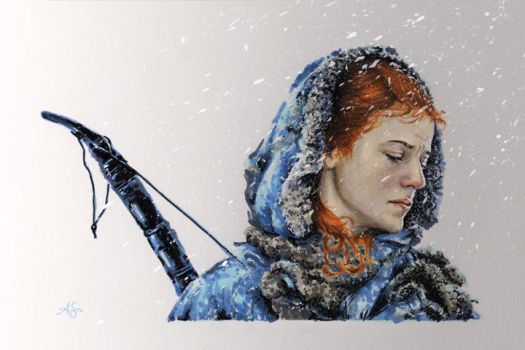 Ygritte in Marker by AllisonSohn