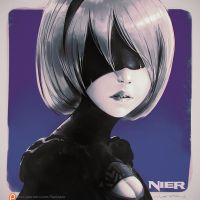 YorHa-2b Portrait Study by fantasio