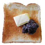 Toast with Red Bean Paste PNG by Bunny-with-Camera