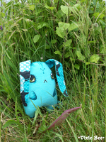 Bunnie in the Grass by Vixie-Bee