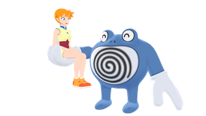 Misty and Poliwrath