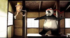 Kung-fu Panda vs bean king by locohead