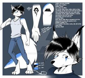 Artik Silverfang Reference Sheet by Scourge87
