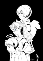 EVA Children by Edalie-chan