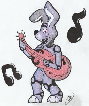Bonnie the Bunny Cartoon: Jam Out Time! by TheLibraFictions