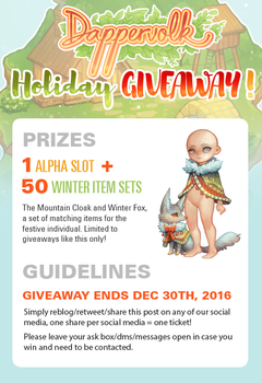 Dappervolk Holiday Giveaway! by quislings