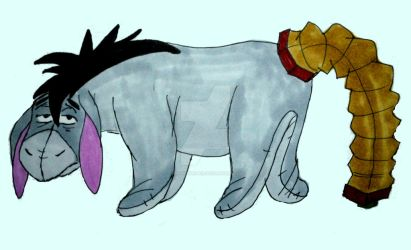 Eeyore's New Tail #5 by InkArtWriter